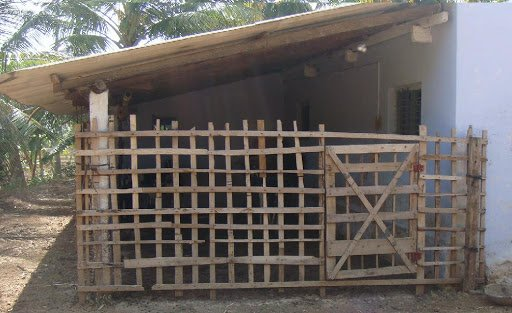 lean-to goat shed